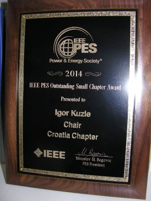 IEEE PES Croatia Chapter awarded...