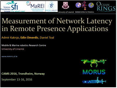 MORUS and UL researchers at CAMS2016