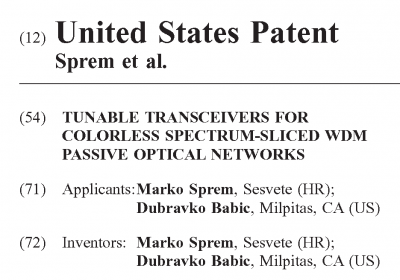 New patent granted to Applied Optics...